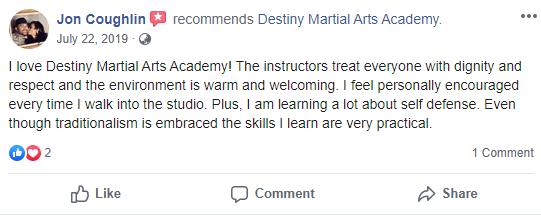 Adult 3, Destiny Martial Arts Academy