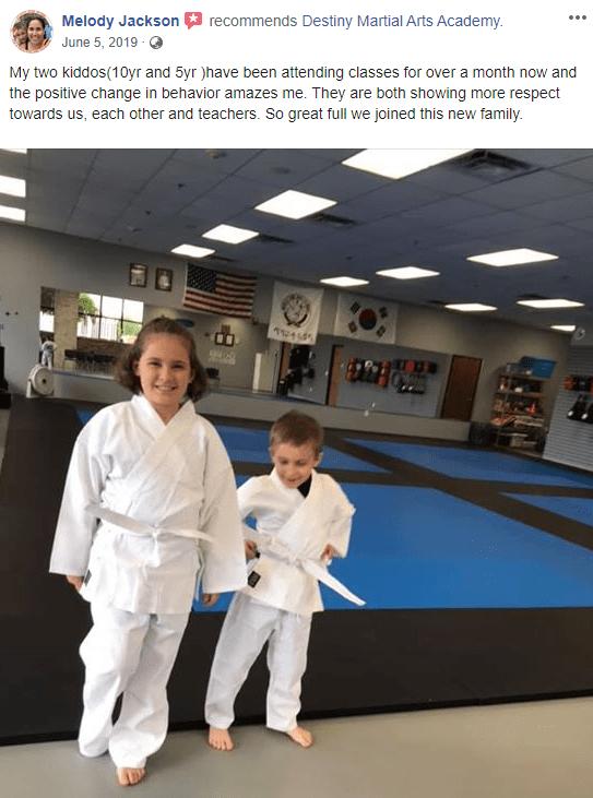 Kids 2, Destiny Martial Arts Academy