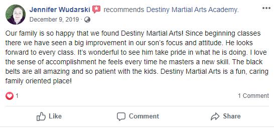 Kids 4, Destiny Martial Arts Academy